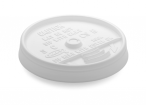 White, Sip Thru Lid Fits 10J10 Cup