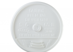 White, Sip Thru Lid Fits 12J12 Cup