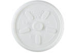 White, Vented Lid Fits 8J8 cup